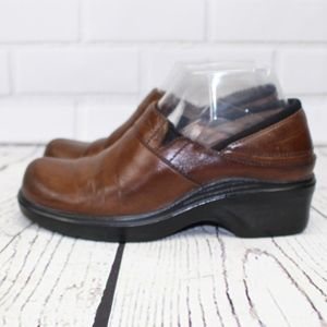 Ariat Slip On Brown Leather Clogs Size 6